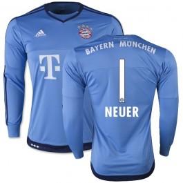 5193ec749b7 15/16 Germany FC Bayern Munchen Shirt - #1 Manuel Neuer FC Bayern Munich  Goalkeeper Soccer Jersey Replica Light Blue Home 15/16 Bundesliga Club  Soccer ...
