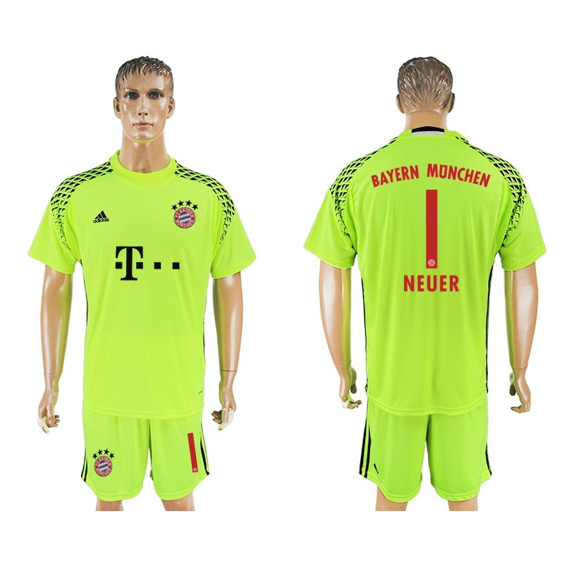 7e4d821f6cd ... soccer country jersey 2543f 77492 wholesale bayern munich 1 goalkeeper  neuer jersey fluorescent green 02fc8 7d047 ...