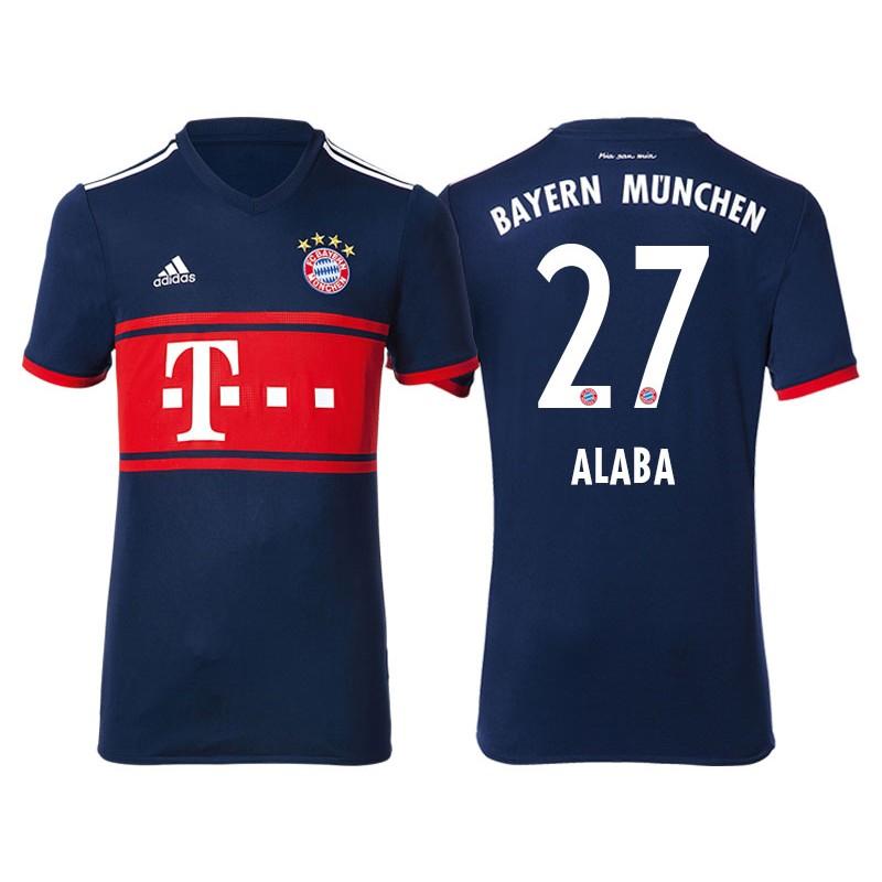 e580b57ee13 More Views. Men - David Alaba #27 Bayern Munich 2017/18 Navy Blue Away  Replica Shirt