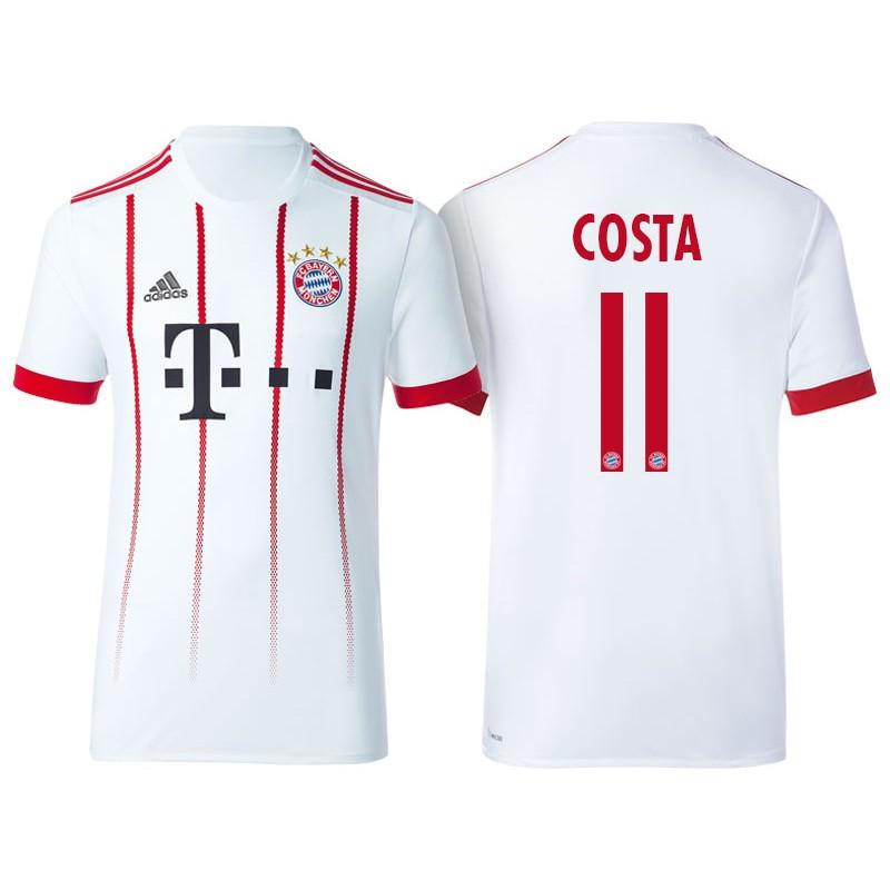e211a5a665ca Men's - Douglas Costa #11 Bayern Munich 2017/18 White Third ...