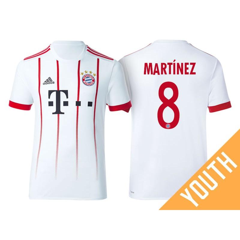 youth javi martinez 8 bayern munich 201718 white champions league third authentic bayern munich (25