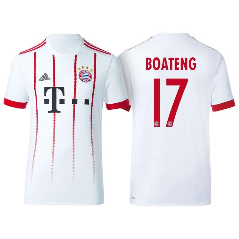 new concept 7c727 5500f Men's - Jerome Boateng #17 Bayern Munich 2017/18 White Third ...