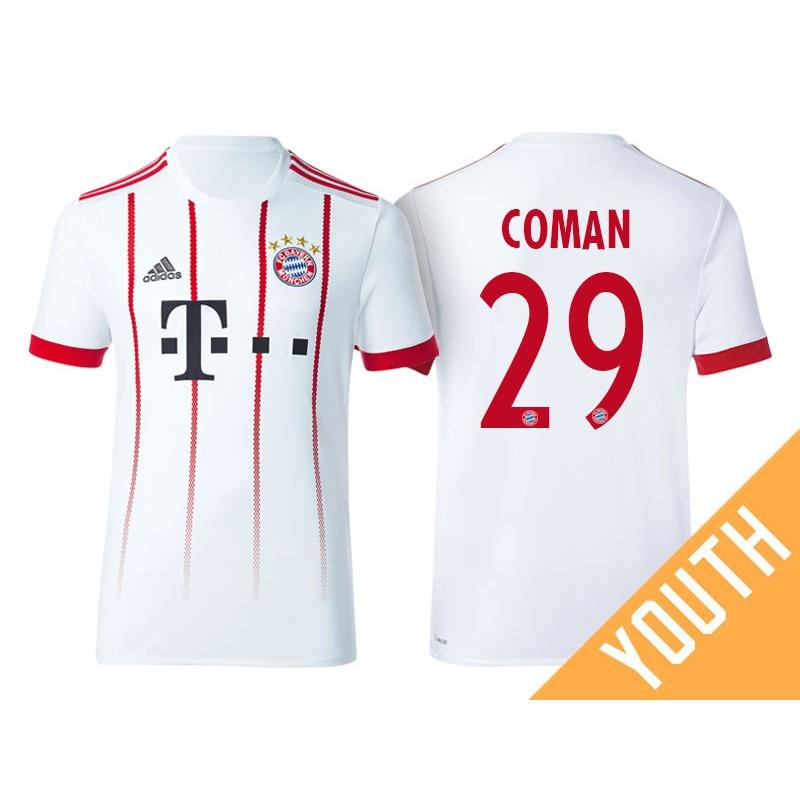 another chance b48c0 e5f94 Kid's - Kingsley Coman #29 Bayern Munich 2017/18 White ...