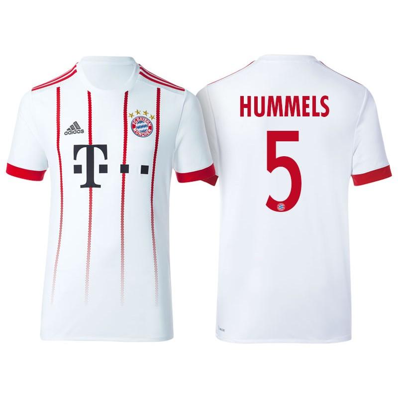 best cheap 84887 1b137 Men's - Mats Hummels #5 Bayern Munich 2017/18 White Third ...