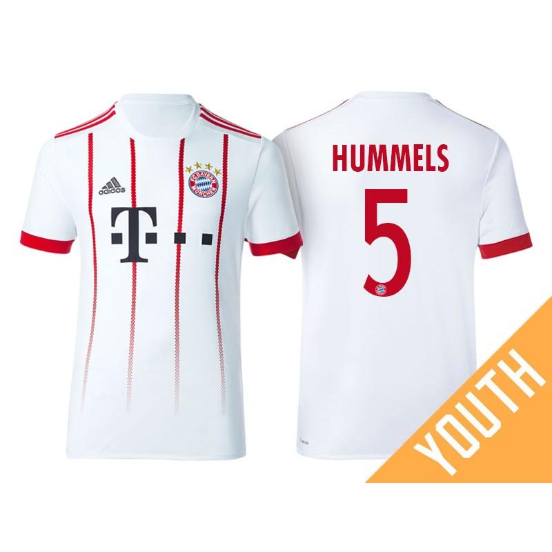 get cheap a5755 26cb4 Kid's - Mats Hummels #5 Bayern Munich 2017/18 White ...