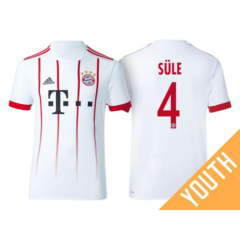 the best attitude 2ead4 02397 Kid's - Niklas Sule #4 Bayern Munich 2017/18 White Champions ...