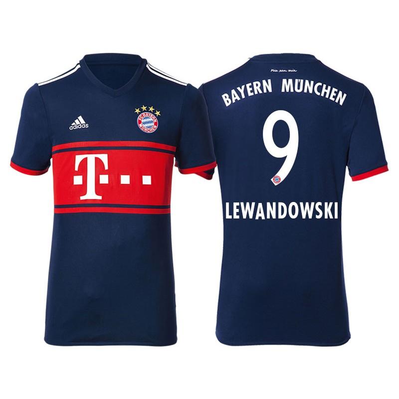 d250f1c9c6a More Views. Men - Robert Lewandowski #9 Bayern Munich 2017/18 Navy Blue  Away Replica Shirt