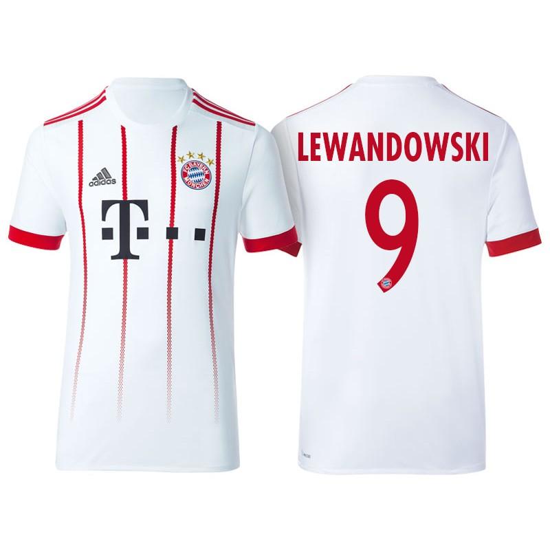 9144ce98228 More Views. Men - Robert Lewandowski #9 Bayern Munich 2017/18 White Third  Champions League Replica