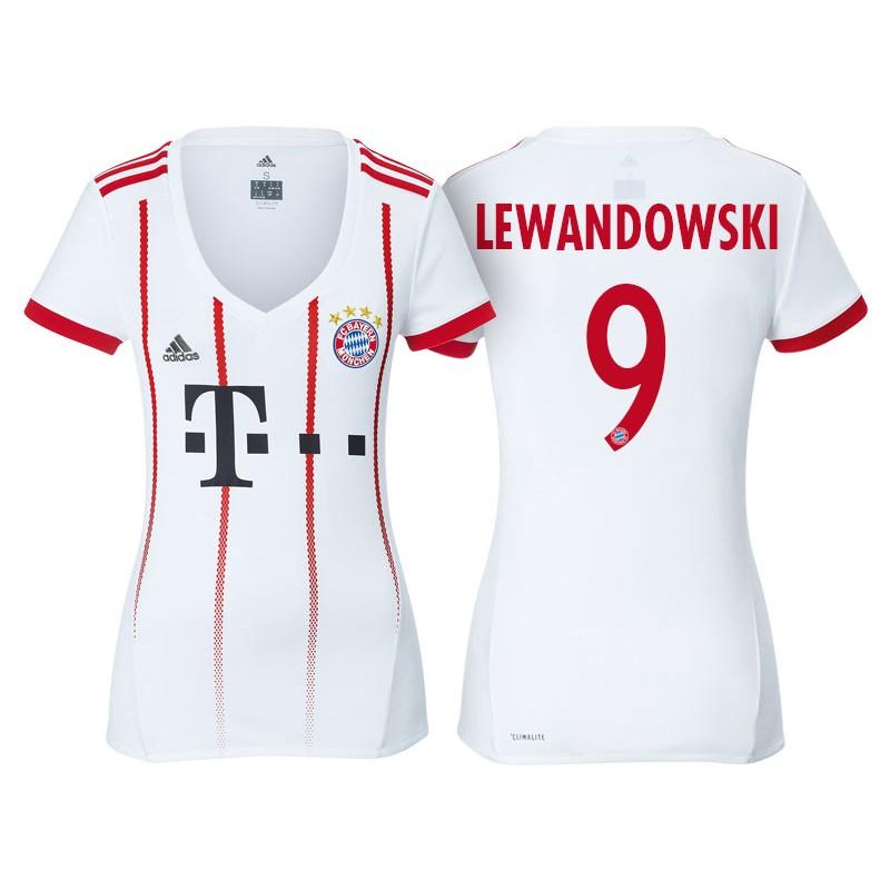 dd9e9ed5fc7 More Views. Women - Robert Lewandowski #9 Bayern Munich 2017/18 White  Champions League Third Replica