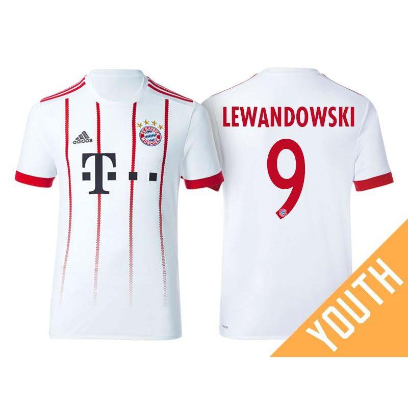 meet 2a79c 12c2b Kid's - Robert Lewandowski #9 Bayern Munich 2017/18 White ...
