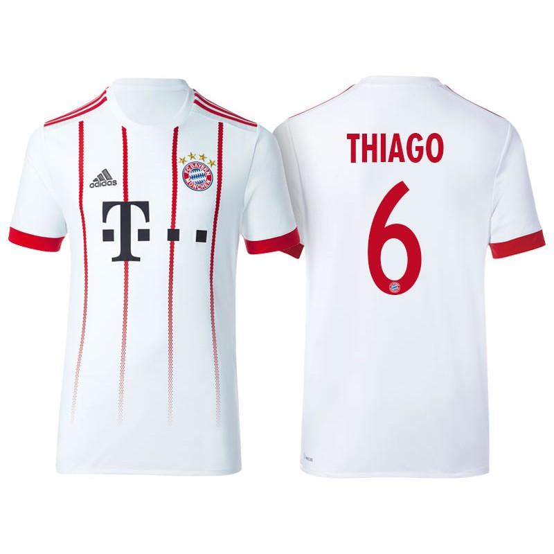 cfb3fa384 More Views. Men - Thiago  6 Bayern Munich 2017 18 White Third Champions  League Replica Shirt