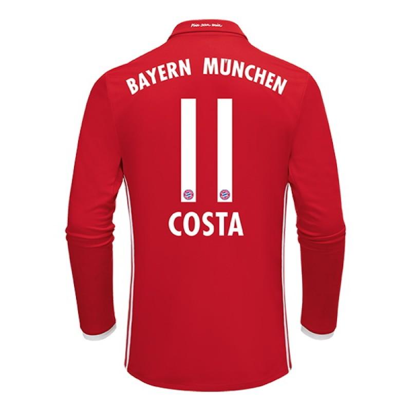 b5e1c6554 ... 2016-2017 Bayern Munich Douglas Costa 11 Home Soccer Jersey -  BUNDESLIGA Football Long Shirt ...