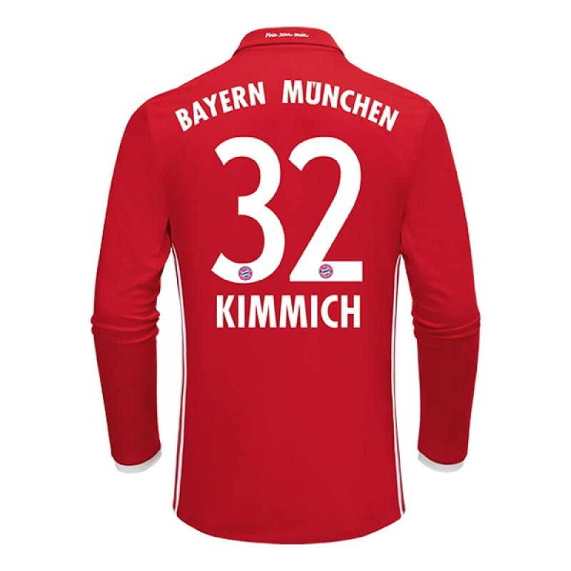 sports shoes e9b1a fb7d2 2016-2017 Bayern Munich Joshua Kimmich #32 Home Soccer ...