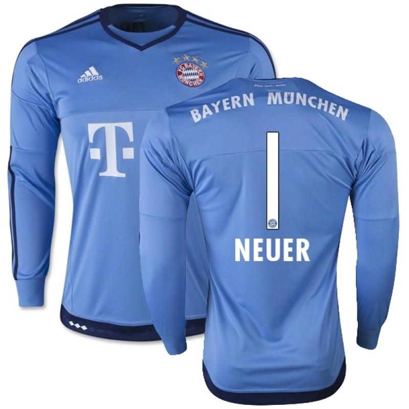 half off 2d05e fd972 15/16 Germany FC Bayern Munchen Shirt - #1 Manuel Neuer FC ...