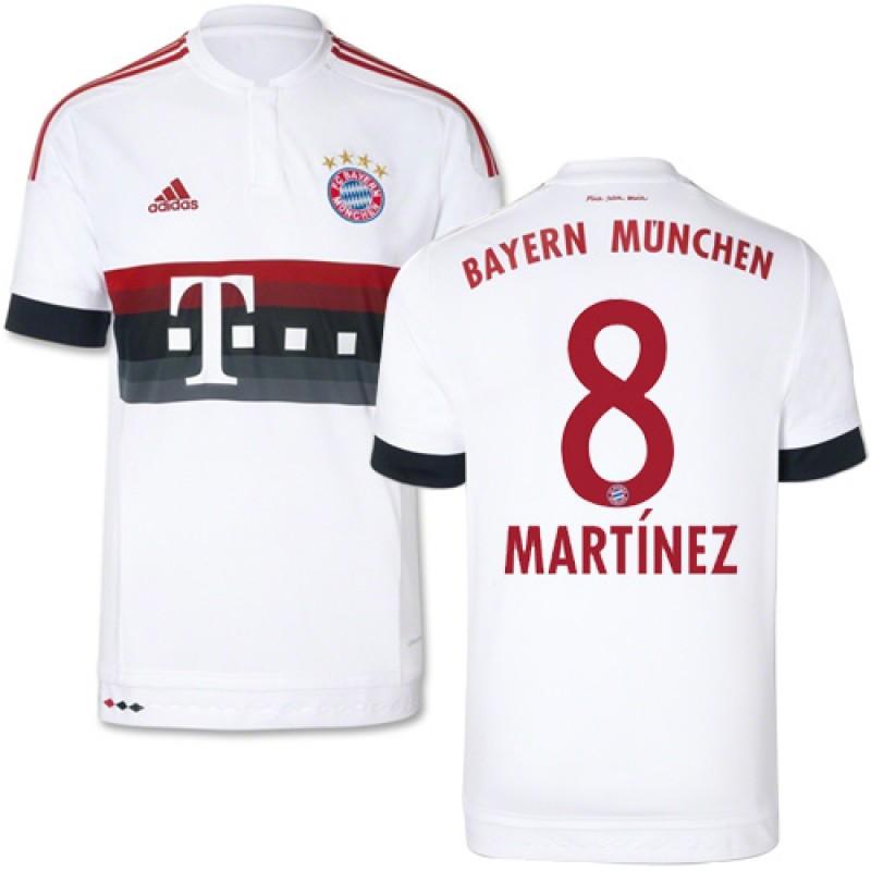 15/16 Germany FC Bayern Munchen Shirt - #8 Youth Javi Martinez ...