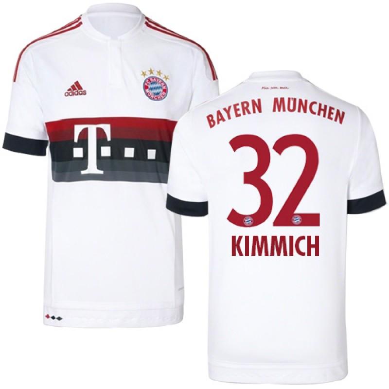 new product 5b6bc b0e1f 15/16 Germany FC Bayern Munchen Shirt - #32 Joshua Kimmich ...