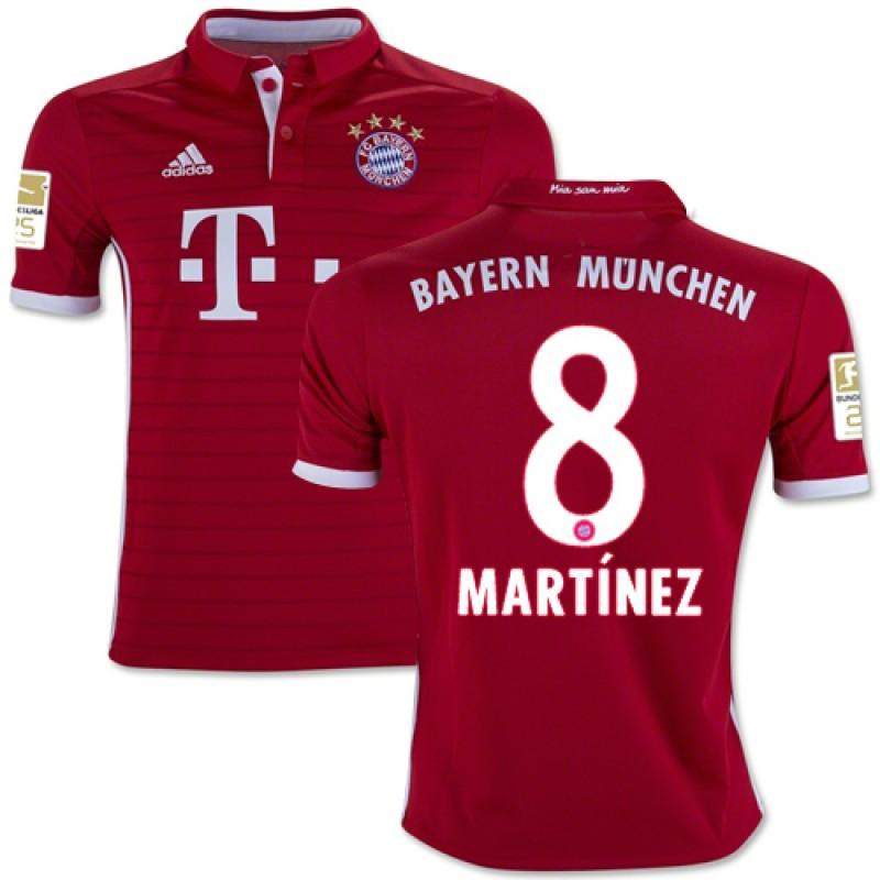 2016 2017 bayern munich javi martinez 8 home soccer jersey bundesliga football long shirt youth 1617
