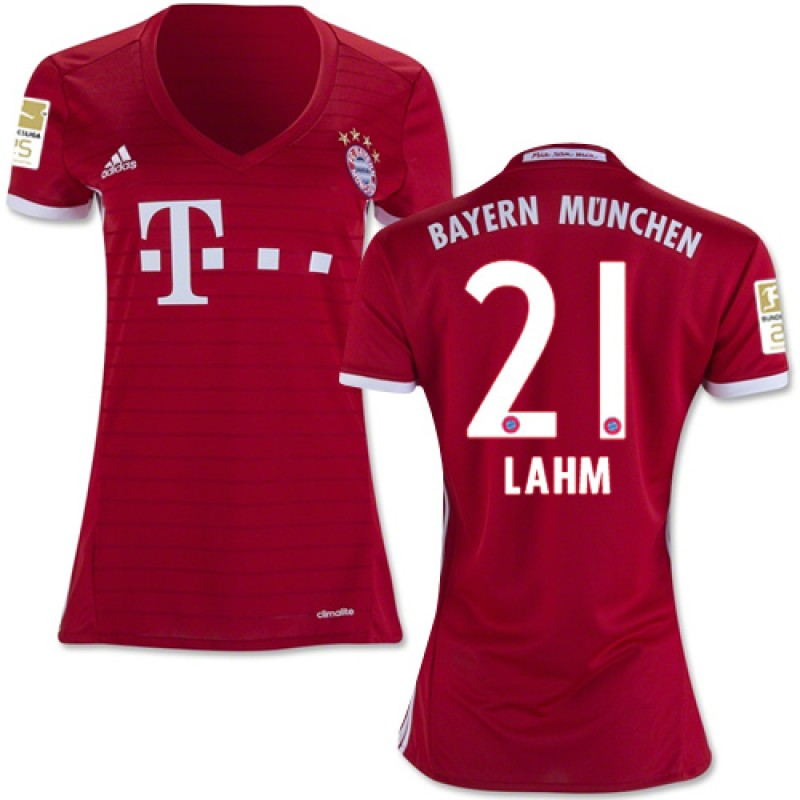 the best attitude bee3c 1d35e Women's 16/17 Bayern Munich #21 Philipp Lahm Replica Red ...