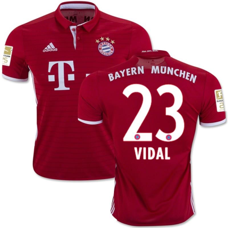 look for f6e86 5f747 16/17 Bayern Munich #23 Arturo Vidal Replica Red Home Jersey ...