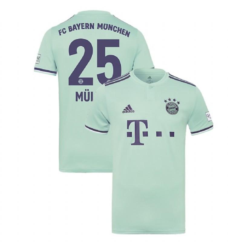 new product b13c1 d4d2e Thomas Muller Bayern Munich 2018/19 Light Green/Blue Men's ...