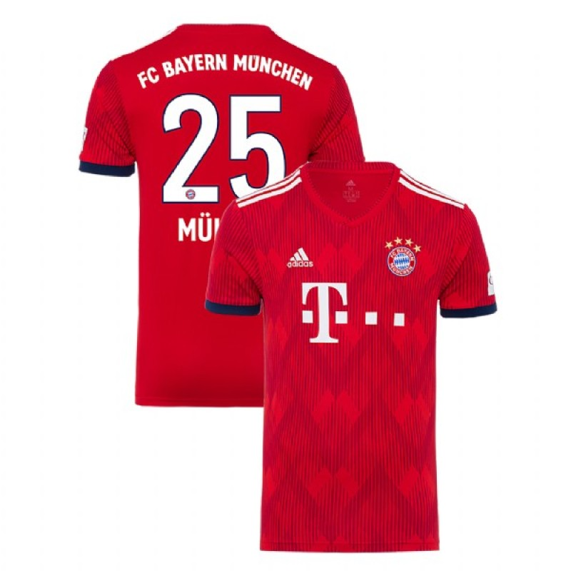 competitive price f2504 ef195 Thomas Muller Bayern Munich 2018/19 Red Men's Home Jersey