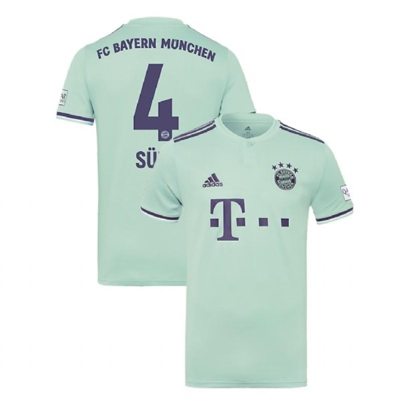 cc644af0f Niklas Sule Bayern Munich 2018 19 Light Green Blue Men s Away Jersey
