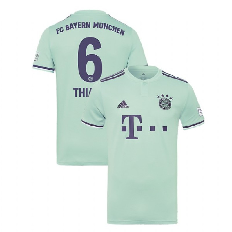 sale retailer d1353 f6c23 Thiago Bayern Munich 2018/19 Light Green/Blue Men's Away Jersey