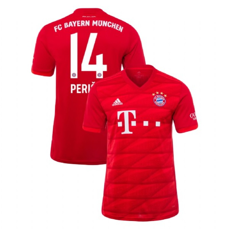 innovative design 8ff28 46fe0 2019-20 Bayern Munich #14 Ivan Perisic Red Home Replica Jersey
