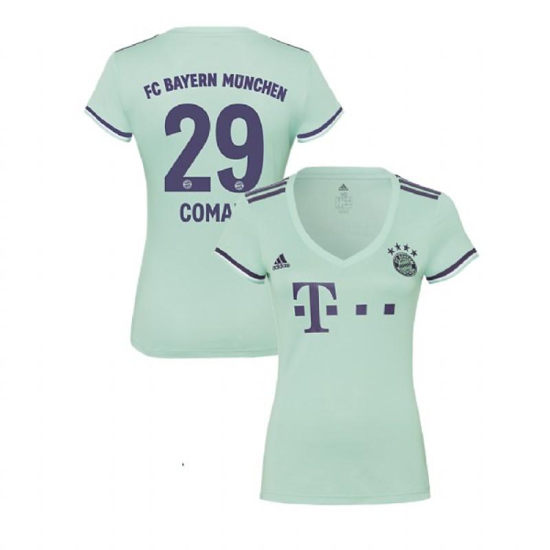 Women s Bayern Munich 2018 19 Away  29 Kingsley Coman Light Green Replica  Jersey c4bc5a99a