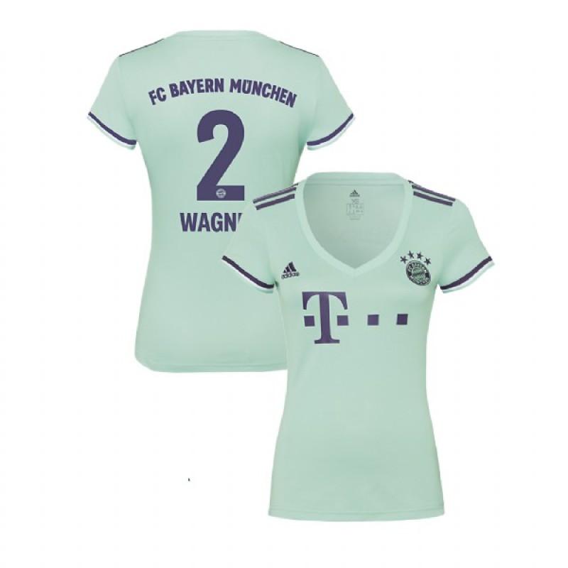 Women s Bayern Munich 2018 19 Away  2 Sandro Wagner Light Green Replica  Jersey 1ad558a3e