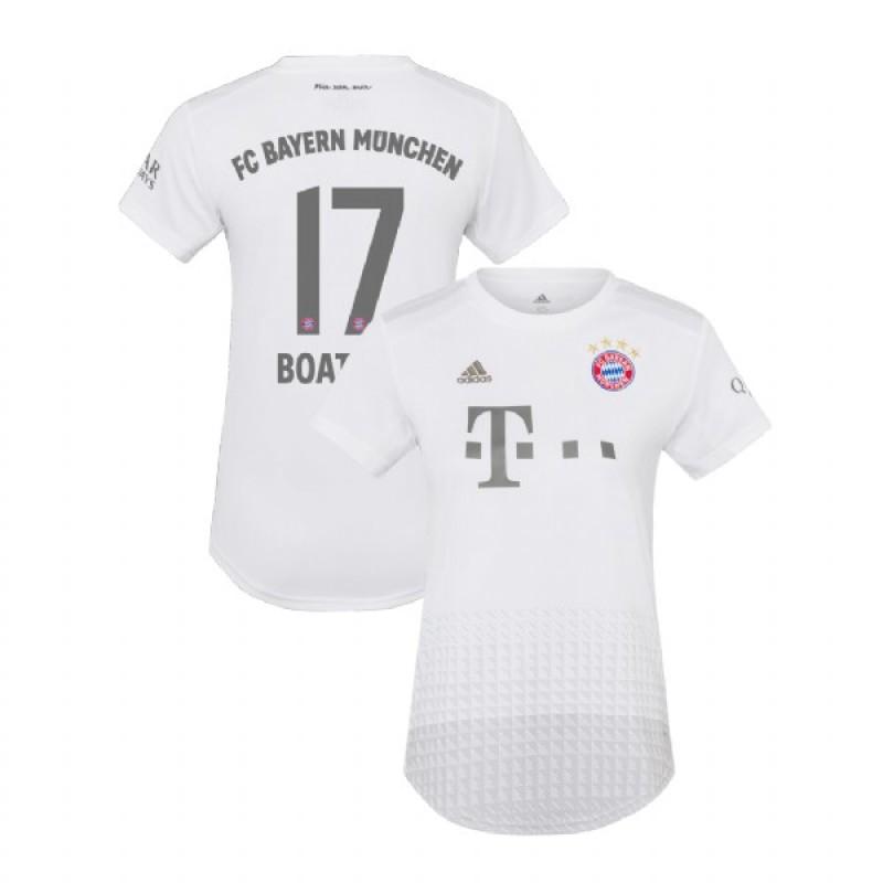 Women's Bayern Munich 2019-20 Away #17 Jerome Boateng White ...