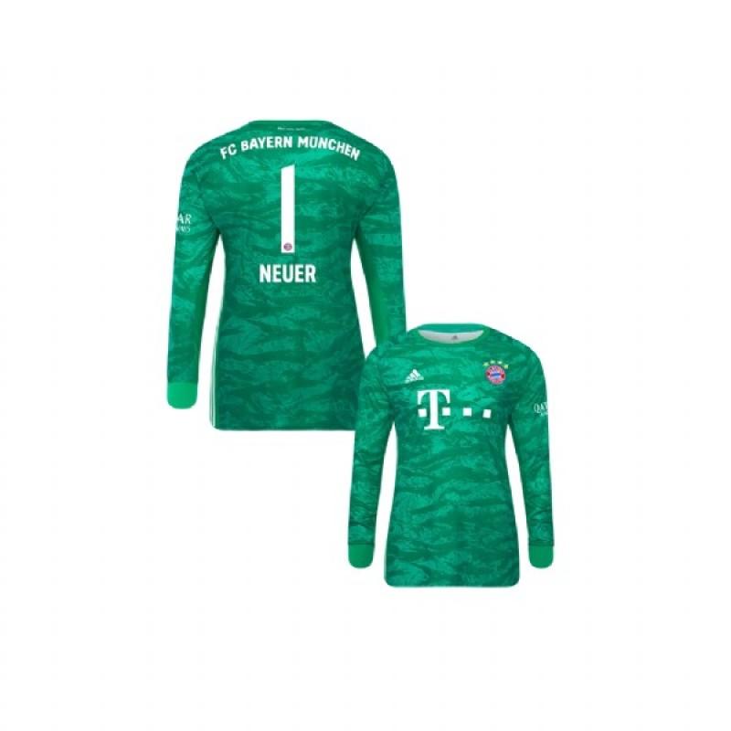 KID'S 2019-20 Bayern Munich Goalkeeper #1 Manuel Neuer Green Home ...