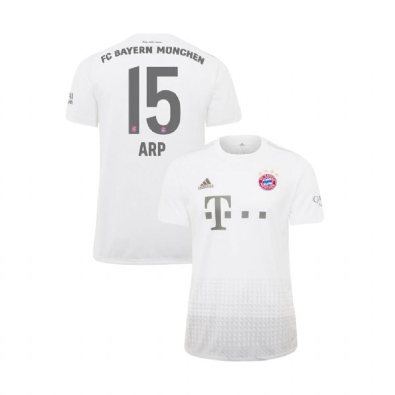 best service ee1e6 c68dd KID'S Bayern Munich 2019-20 Away #15 Jann-Fiete Arp White ...