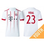 Youth - Arturo Vidal #23 Bayern Munich 2017/18 White Champions League Third Replica Shirt