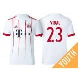 Youth - Arturo Vidal #23 Bayern Munich 2017/18 White Champions League Third Authentic Shirt