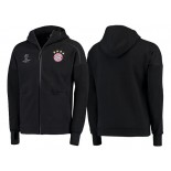 Bayern Munich Anthem Tri-Blend Full-Zip Hoodie - Black