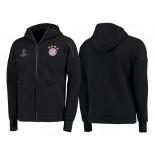 Bayern Munich Anthem Tri-Blend Full-Zip Hoodie - Black