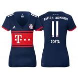 Women - Douglas Costa #11 Bayern Munich 2017/18 Navy Blue Away Authentic Shirt
