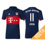 Youth - Douglas Costa #11 Bayern Munich 2017/18 Navy Blue Away Replica Shirt