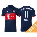 Youth - Douglas Costa #11 Bayern Munich 2017/18 Navy Blue Away Authentic Shirt