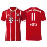 Douglas Costa #11 Bayern Munich White Stripes Red 2017-18 Home Authentic Jersey