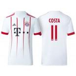 Men - Douglas Costa #11 Bayern Munich 2017/18 White Third Champions League Replica Shirt