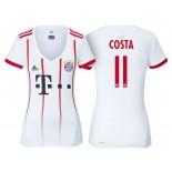 Women - Douglas Costa #11 Bayern Munich 2017/18 White Champions League Third Replica Shirt