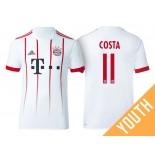 Youth - Douglas Costa #11 Bayern Munich 2017/18 White Champions League Third Authentic Shirt