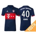 Youth - Fabian Benko #40 Bayern Munich 2017/18 Navy Blue Away Replica Shirt