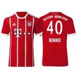 Fabian Benko #40 Bayern Munich White Stripes Red 2017-18 Home Authentic Jersey
