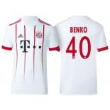 Men - Fabian Benko #40 Bayern Munich 2017/18 White Third Champions League Replica Shirt