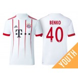 Youth - Fabian Benko #40 Bayern Munich 2017/18 White Champions League Third Authentic Shirt
