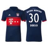 Men - Niklas Dorsch #30 Bayern Munich 2017/18 Navy Blue Away Replica Shirt
