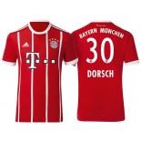 Niklas Dorsch #30 Bayern Munich White Stripes Red 2017-18 Home Authentic Jersey